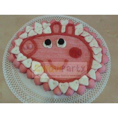 Tarta de chuches de Peppa Pig. 35 x 25 Se hacen por encargo con chuches de buena calidad. http://www.articulos-fiestas-infantiles.es/476-fiesta-de-cumpleanos-de-peppa-pig