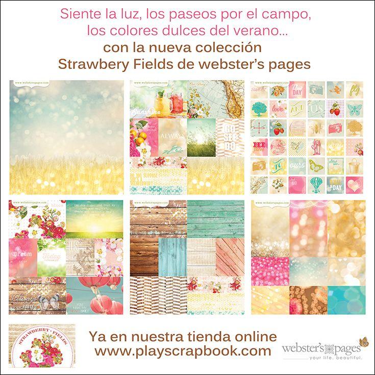 Strawberry Fields la nueva colección de Webster'spages ya disponible en nuestra tienda online #websterspages #playscrap #strawberryfields #scrapbooking
