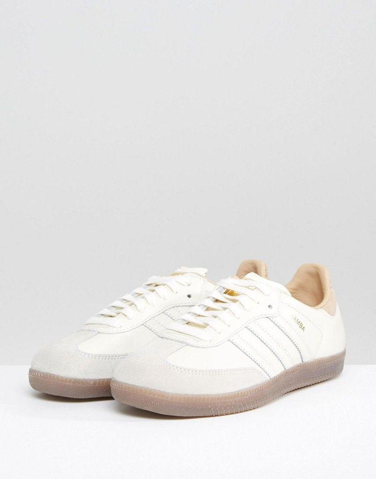 adidas Originals Samba Sneakers In Off White - White