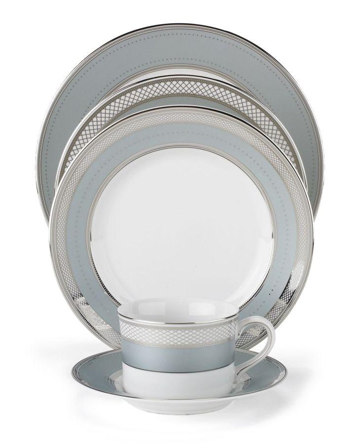 "Lauren Ralph Lauren ""Silk Ribbon Slate"" 5-Piece Place Setting - Fine China - Dining & Entertaining - Macy's"