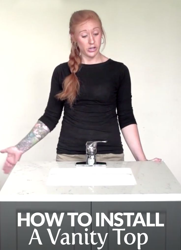 How To Install A Quartz Vanity Top Undermount Sink Super Fly DIY Pi