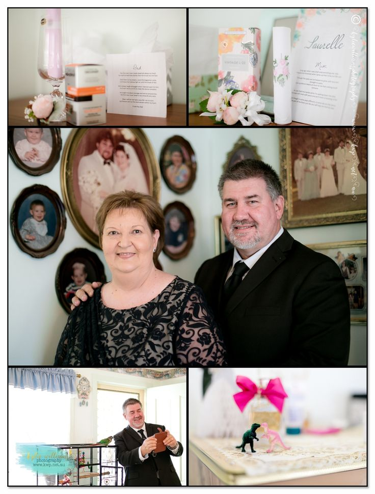 Mother and father of Bride Selfies Details Wedding Birds Certificate Love