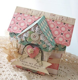 cottage... I like the idea of cute little houses for other holidays besides christmas!