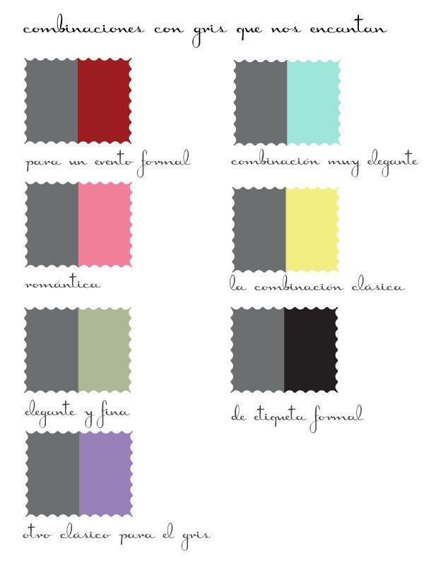 Gris y colores combinar bodas bautizos y comuniones - Colores que combinan ...