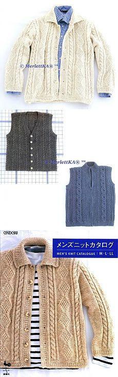 Вязание спицами - пуловеры,жакеты и безрукавки для мужчин
