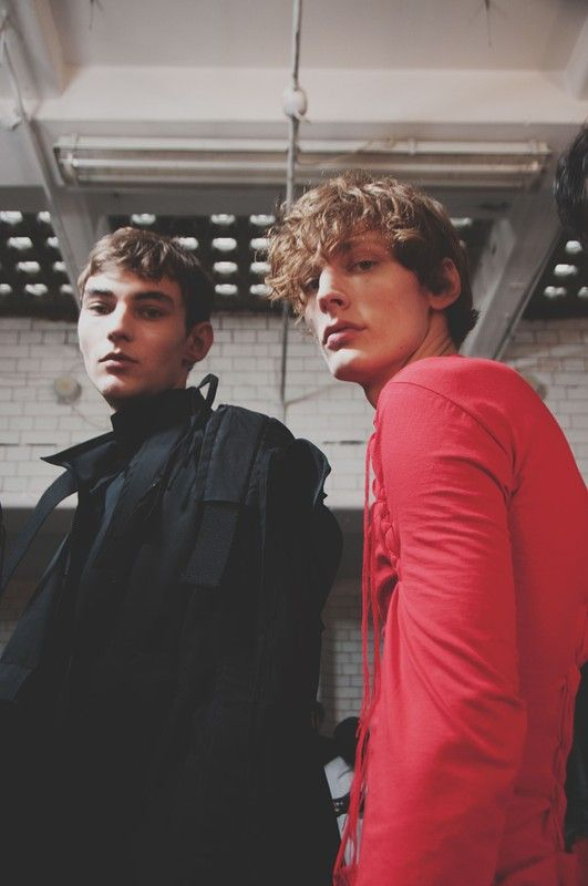 Backstage at Craig Green AW15 LCM. See more here: http://www.dazeddigital.com/fashion/article/23182/1/craig-green-aw15
