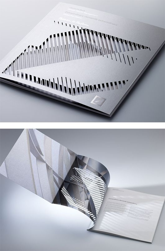 Deustche Bank Brochure by Studio 2br... Lovely bit of die cutting that's for sure!