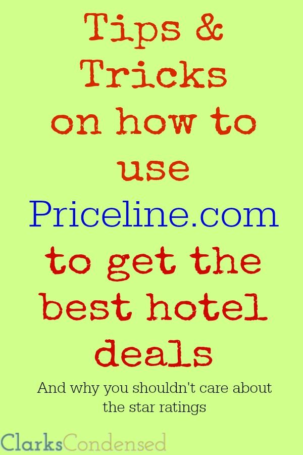 Here are some must-known Tips & Tricks for using Priceline.com to get the best hotel deals and to save money on travel!
