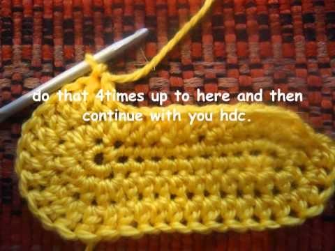 how to crochet baby bootie sole tutorial