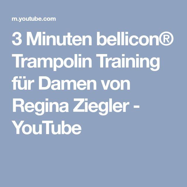 3 Minuten bellicon® Trampolin Training für Damen von Regina Ziegler - YouTube