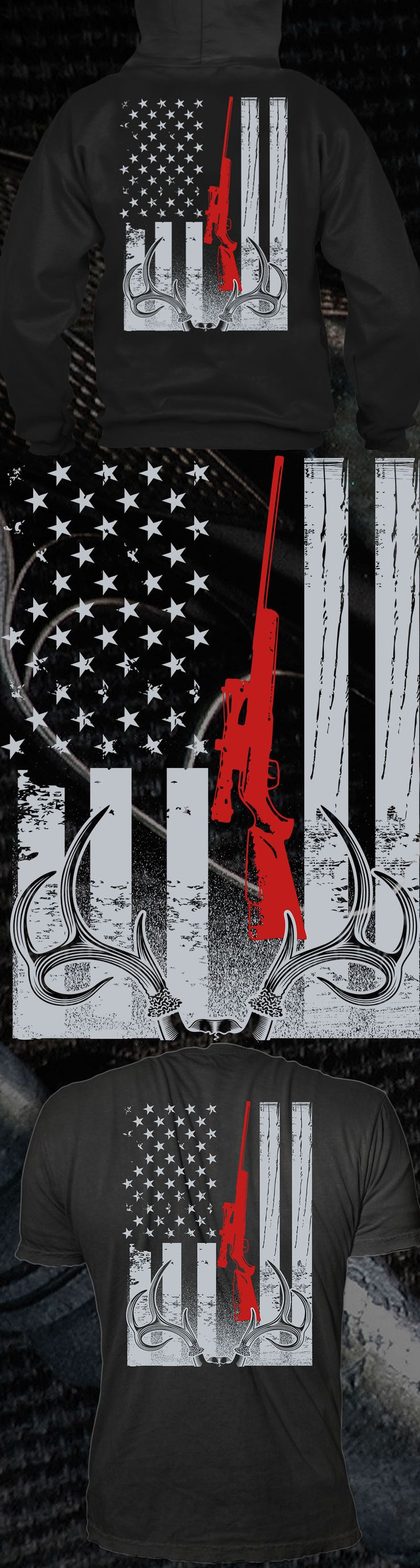 Deer Hunting American Flag - Get this limited edition T-Shirt and Hoodies just in time for the holidays! Only 2 days left for FREE SHIPPING, click to buy now!