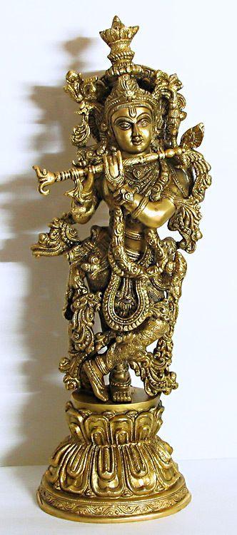 Murlidhara+Krishna+(Brass))+