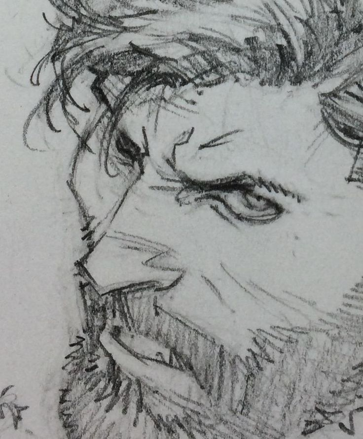 Sketch of an unknown Batcover by Greg Capullo (that's a scruffy Bruce, by the way).