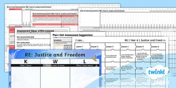 PlanIt RE Year 6 Justice and Freedom Unit Assessment Pack