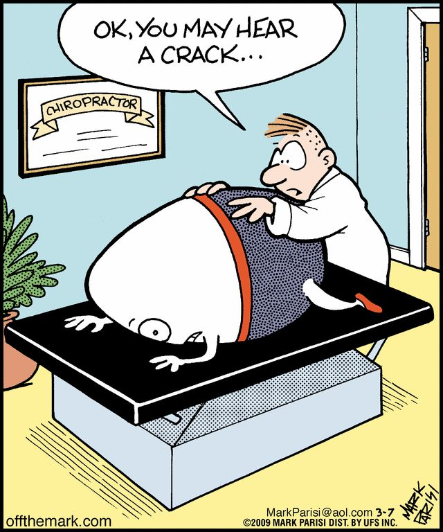 Chiropractic is all it's cracked up to be :) Putting Humpty Dumpty back together again. #backinmotion.us