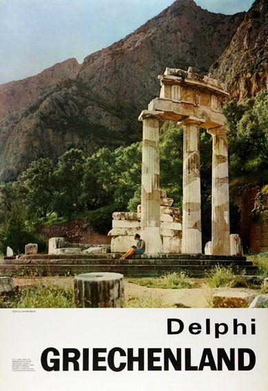 GRIECHELAND 1966. Delphi. Σχεδιαστής σύνθεσης ο Γιώργος Βακιρτζής.