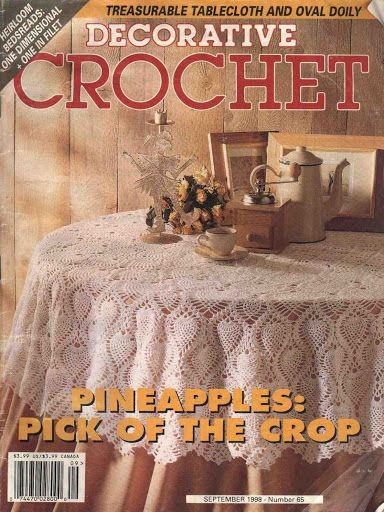 Decorative Crochet Magazines 37 - Gitte Andersen - Picasa Web Albums Pineapples in Oval