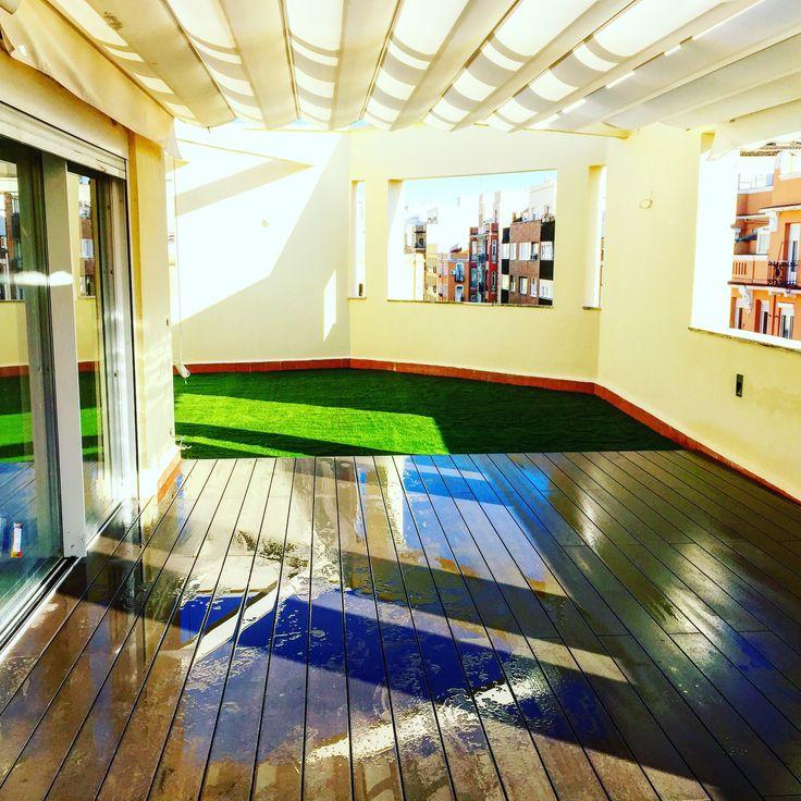 diseo de terrazas con csped artificial en madrid