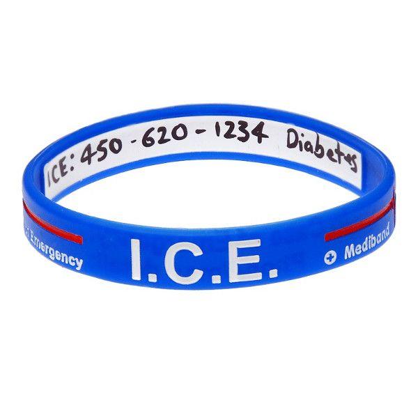 Allergy Wristbands Ice Wristband Emergency Jewellery In 2020 In Case Of Emergency Emergency Case