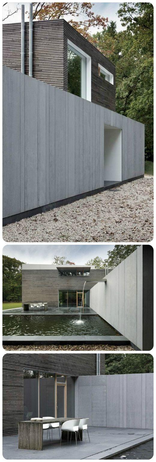 Wood meets fibre cement. Modern villa in Belgium. arch: Johan Fierens. EQUITONE facade materials. equitone.com
