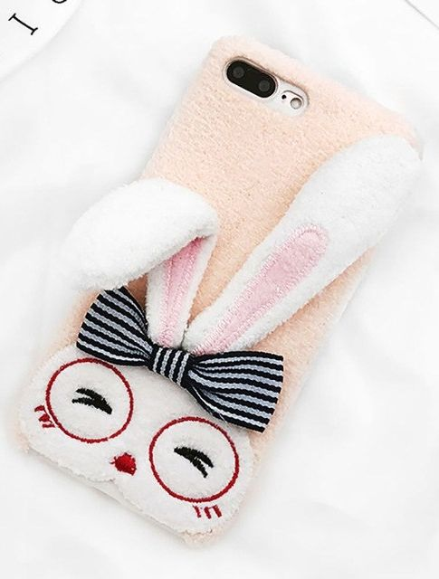 best service f7609 fd9a3 Cute Rabbit Ears Funny iPhone Case | Pink Phone Accessories | Diy ...