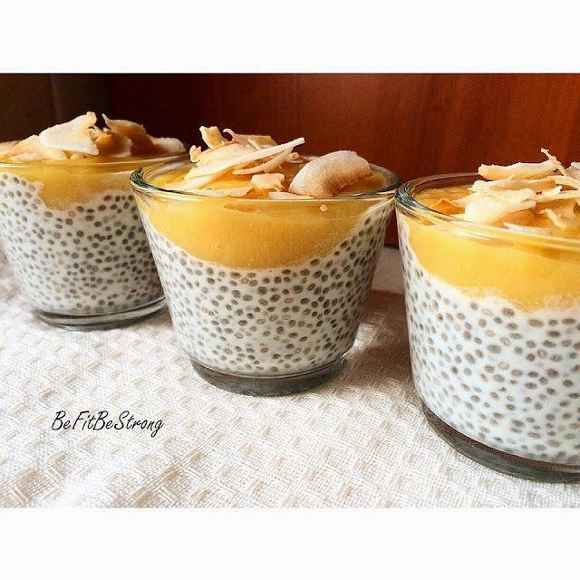 Pudding z nasionami chia i mango