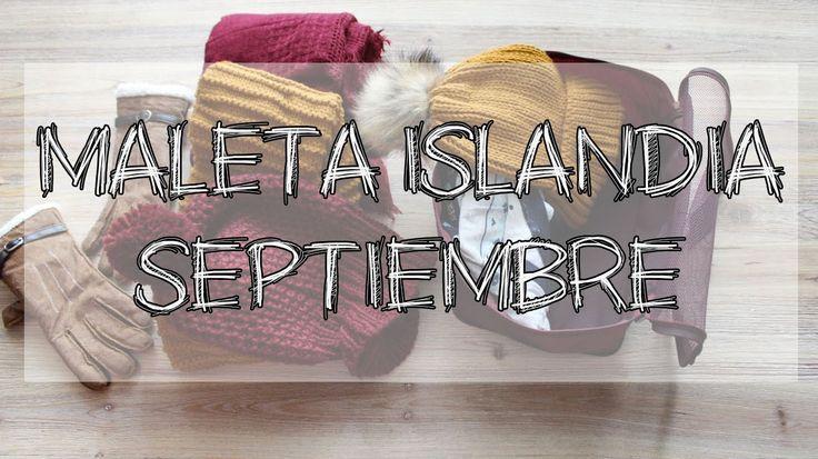 ¿Que hay en mi maleta a Islandia en septiembre? Viajar a Islandia - YouTube