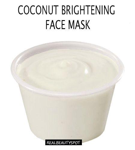 Coconut Oil Brightening Face mask