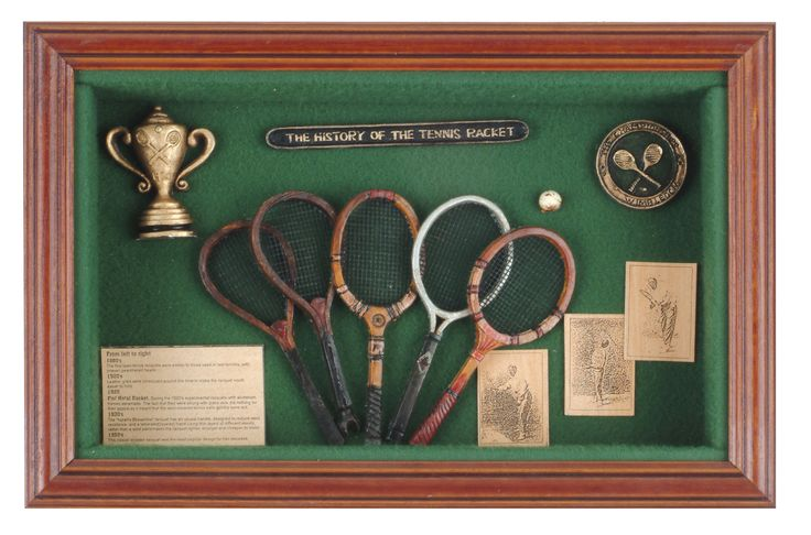 History Of The Tennis Racket Horizontal Shadow Box Find