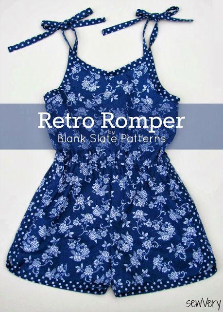 sewVery: Retro Romper Pattern