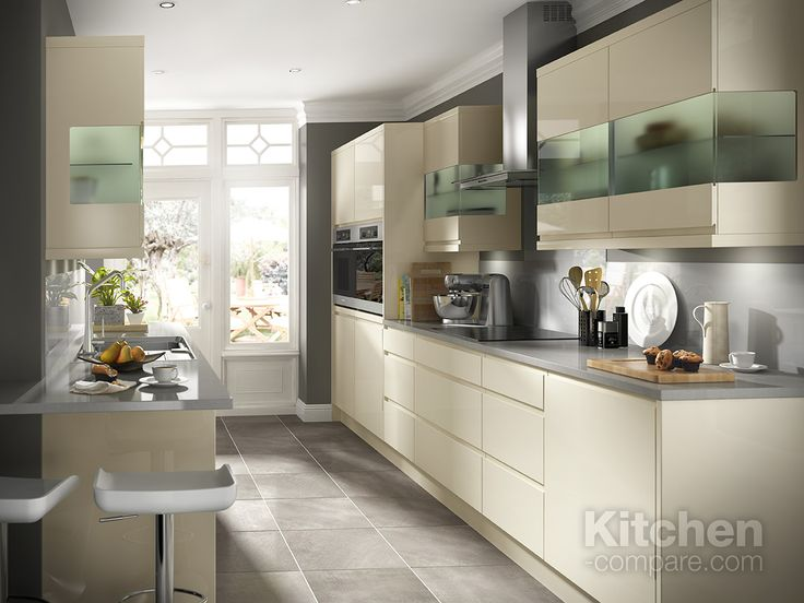 B&Q Cooke & Lewis Appleby Cream.   A modern, bright space designed for cooking and entertaining, the Appleby Cream kitchen offers a wide variety of style and storage options to enhance the beauty of your kitchen space. Ergonomically designed and ultramodern, with sleek gloss cabinets, warmed with an oak worktop and colour palette of dusky pastels.  Visit our website to compare other cream handleless kitchen styles - http://bit.ly/1PnJ8t6