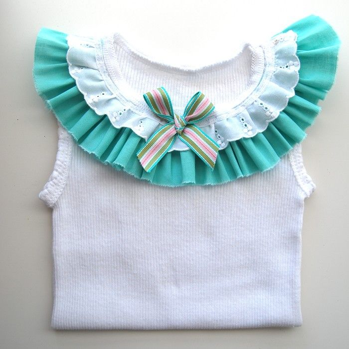 Turquoise Baby Girl Singlet - birthday, blue, tank, toddler, summer | Bubby Makes Three | madeit.com.au