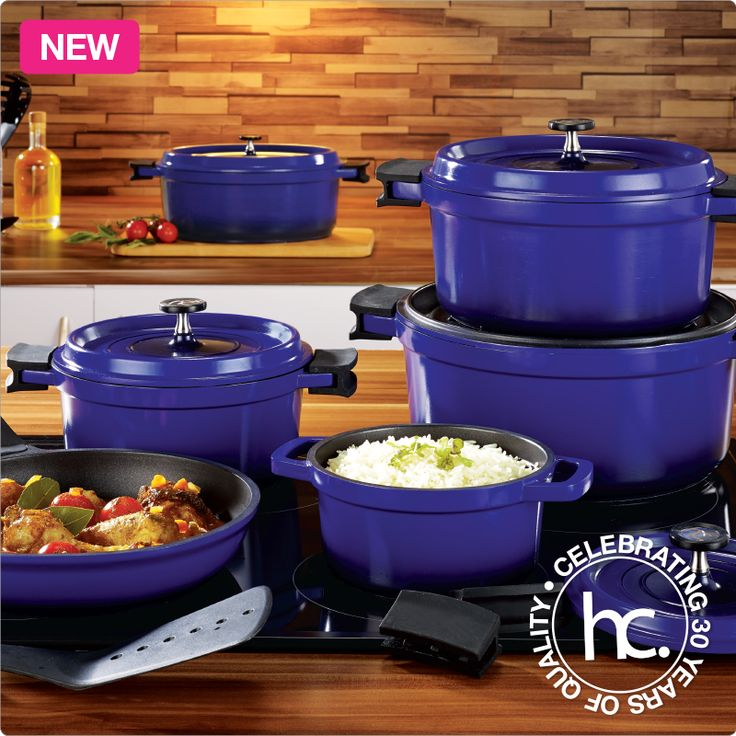 Blue saveur aluminium cookware set from r999 or only r99 p for Kitchen set aluminium royal