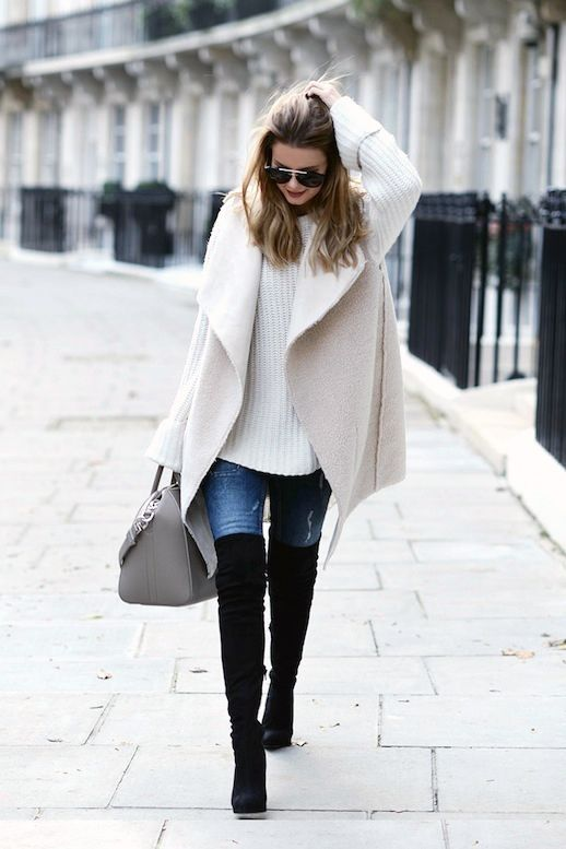 See How This Stylish Blogger Wears A Shearling Vest