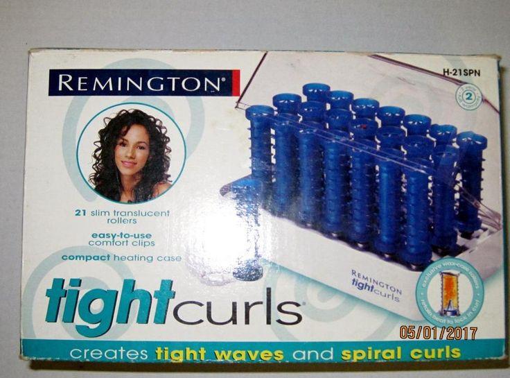 Remington TIGHT CURLS Pageant Wax Core w/21 Plastic Clips 21 SPIRAL Curls,Waves #Remington