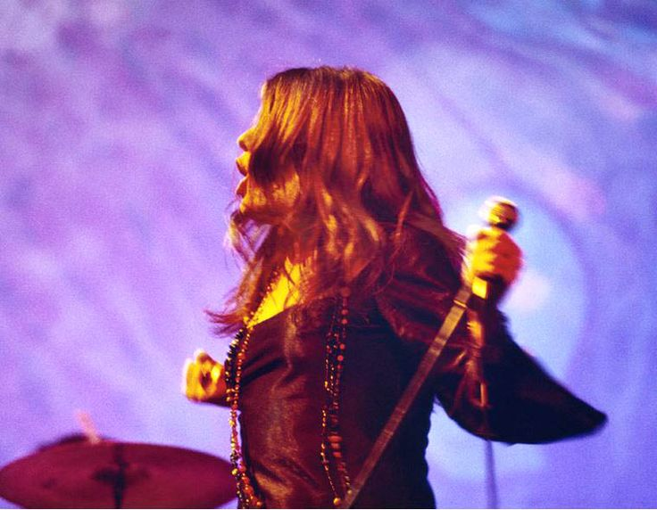 Janis Joplin with Big Brother and The Holding Company + the Joshua Light Show, Anderson Theater, New York City, 1968, by Elliott Landy