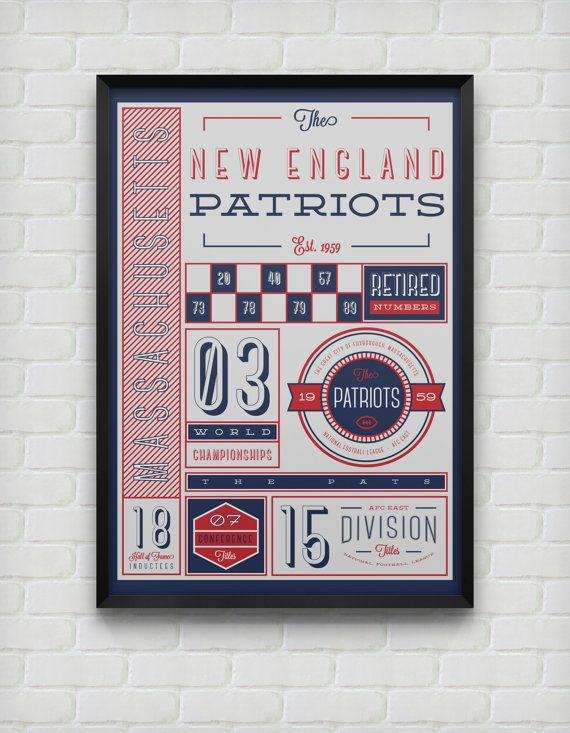 New England Patriots Stats Print by DesignsByEJB on Etsy, $18.00