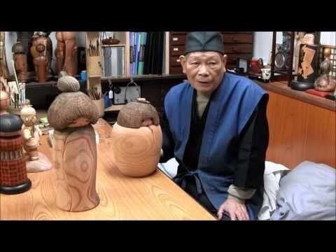 KOKESHI DOLL JAPAN-02  Sekiguchi Sansaku of Zen World... Making Beautiful Kokeshi Dolls.