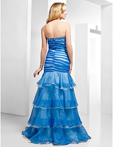 Trumpet/ Mermaid Sweetheart Floor-length Organza Evening Dress - USD $ 199.99 - Free shipping for all