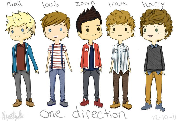 cartoons of one direction   one direction cartoon by ~kaiko25 on deviantART