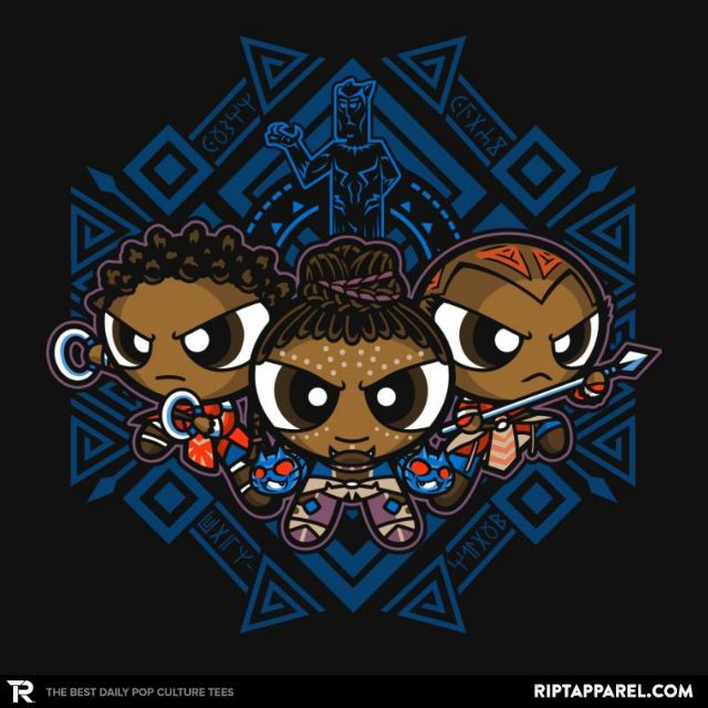 The Pantherpuff Girls T-Shirt - Black Panther T-Shirt is $13 today at Ript!