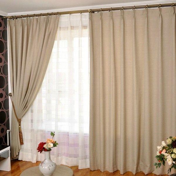 double rideaux occultant rideaux et