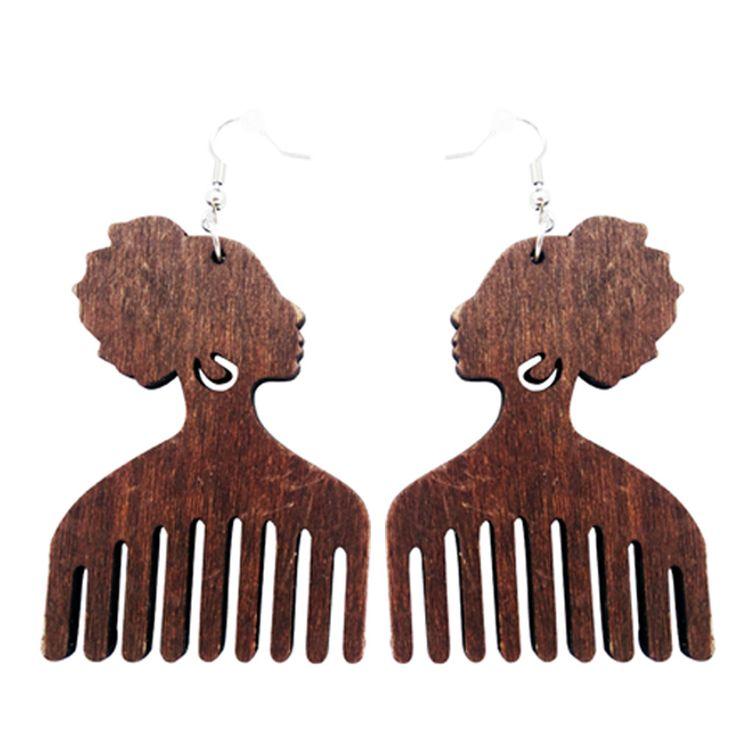 Afro pick earrings   Afro pic earrings