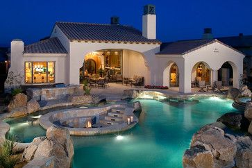 Firepit in the middle of pool