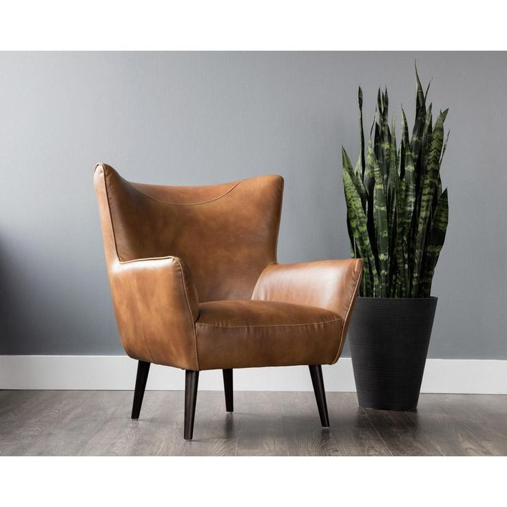 Luther Occasional Chair Tobacco Tan With Images Leather