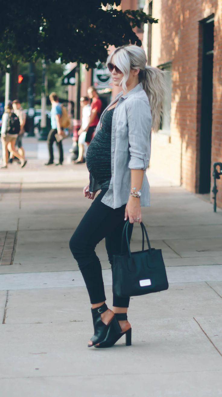 Casual #maternitystyle #stylishpregnancy