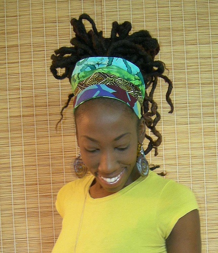 Beautifully wrapped head wrap!