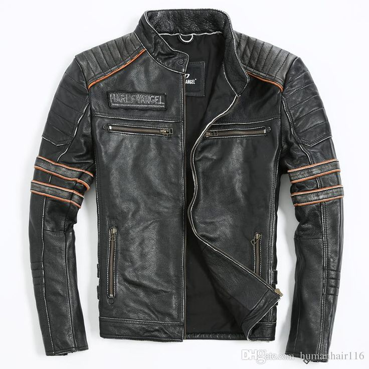 cheapest mens leather biker jacket