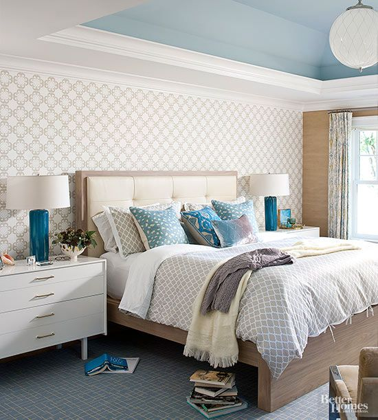 It may seem obvious, but every bedroom needs furniture, a color scheme, and bedding. What every bedroom also needs is a place for homeowners to relax, so adding cozy pillows to a bed may be the answer. The right lights and spaces to store everyday essentials are also key.