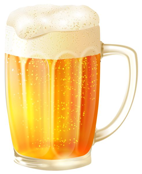 Mug with Beer PNG Vector Clipart Image